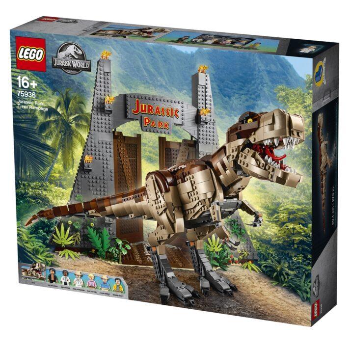 L'ensemble LEGO® Jurassic World Jurassic Park : le carnage du T. rex arrive !