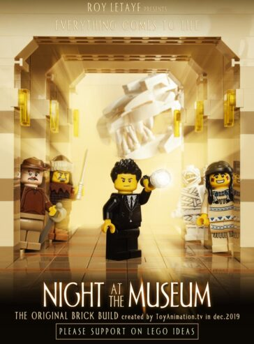 The official visual of Night At The Museum MOC